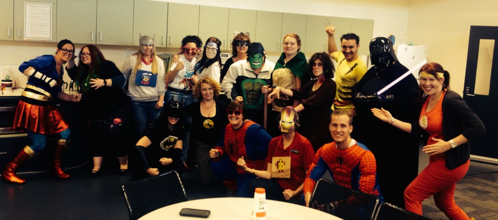 teachers dressed as superheroes