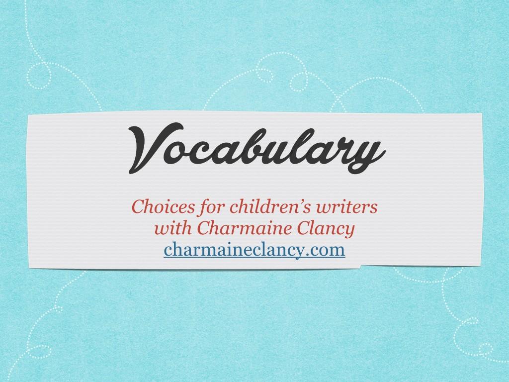 How to choose vocabulary